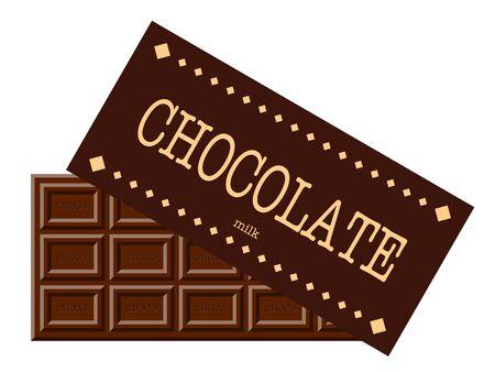 Illustration of bar of chocolate