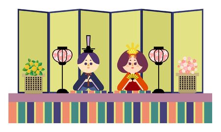 Illustration of a single altar and a wax doll 矢量图像