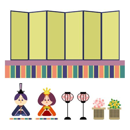 Illustration set that is easy to cut out of a single platform and a wax doll