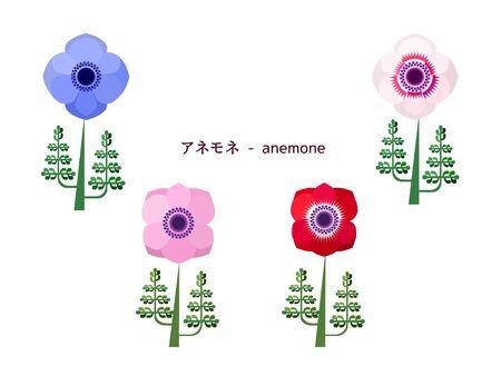 Simple illustration of Anemone