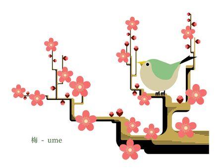 Simple illustration of plum 免版税图像 - 140797386