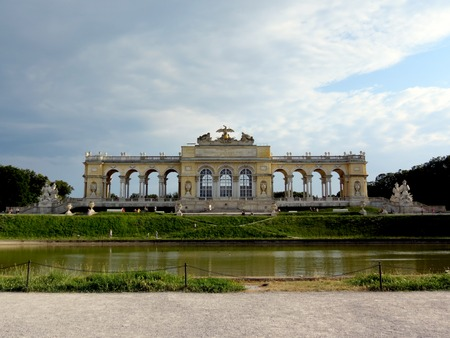 the gloriette: Gloriette in Schonbrunn park, Vienna.