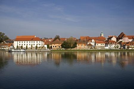 drava: Maribor City Stock Photo