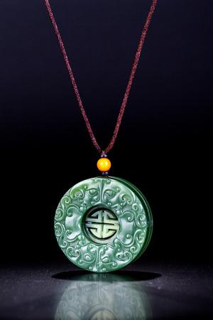 jade: Jade carving necklace pendant Stock Photo
