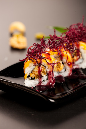 The delicious Japanese cuisine features