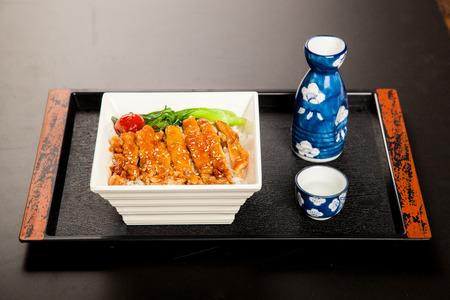 prestar atencion: Cocina japonesa, variedad patrón, hizo una cuidadosa, prestar atención a la nutrición, la estética de cocina Foto de archivo