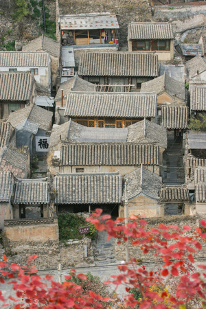 travel features: The ancient village in Beijing of China Editorial