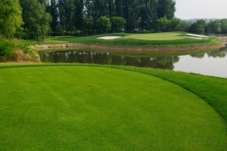 view nature landscape of beautyful golf course at China