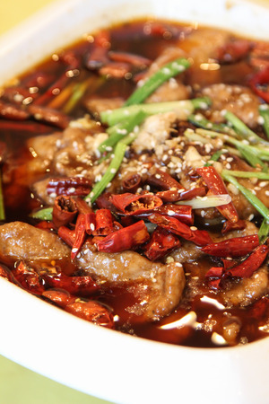 sichuan: China Sichuan delicious boiled beef, Chinese Food
