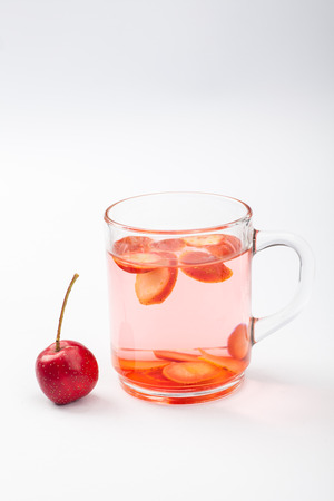 soaked: Hawthorn slices soaked in a cup of water