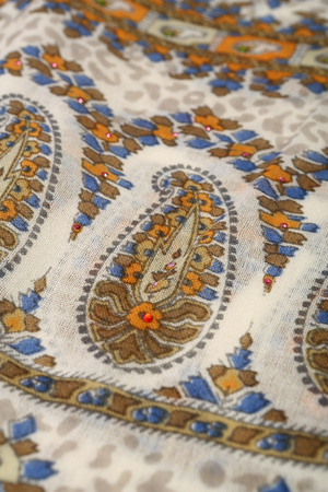 polyester: scarf with Traditional ornamental floral pattern