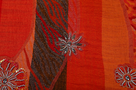 artisan: scarf with Traditional ornamental floral pattern