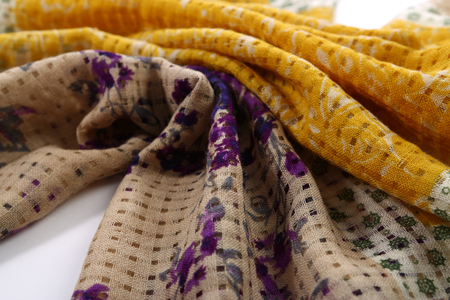 craftsperson: scarf with Traditional ornamental floral pattern