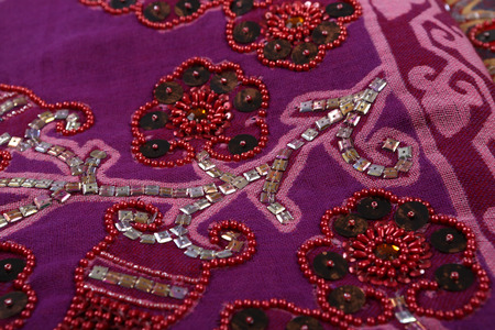 polyester: Traditional ornamental floral , use this pattern in the design of carpet, shawl, pillow, cushion.