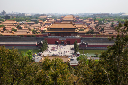 Chinese ancient royal architecture, Beijings Forbidden City Editorial