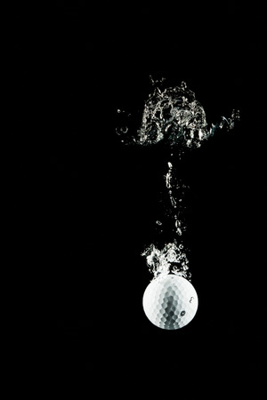 ploy: golf ball plunge in the water