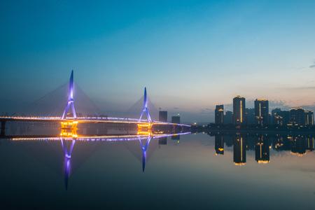 Bridge over Yangtze River Stock Photo