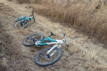 cross country: Cross country mountain biking on the grass Editorial