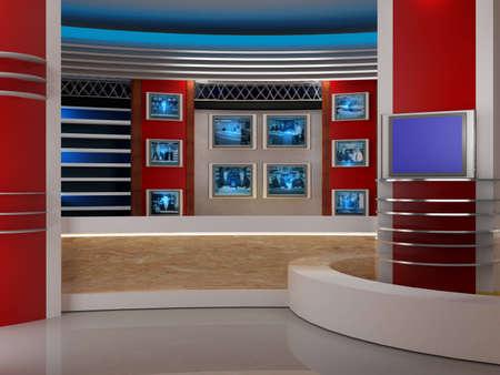 news reporter: studio for tv chrome video