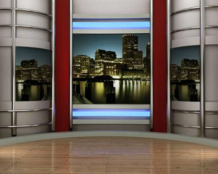 studio pour tv chromé vidéo Banque d'images