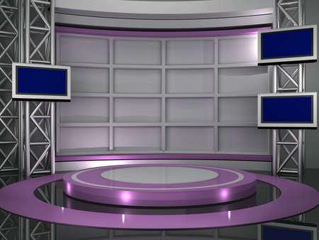 rompiendo: estudio de televisi�n cromo v�deo Foto de archivo