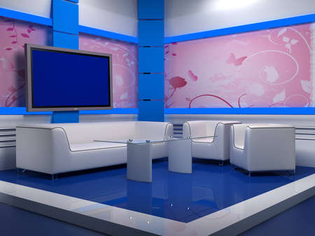 background studio for tv chroma Stock Photo