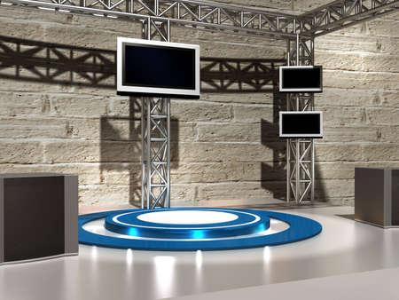 studio de fond pour TV chroma Banque d'images