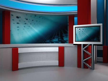 journal t�l�vis�: studio de fond pour TV chroma