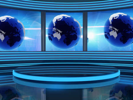 background studio for tv chroma Stock Photo - 10883706