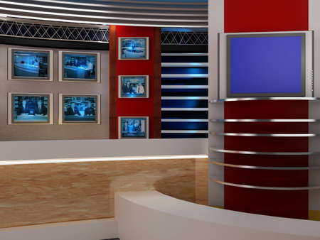background studio for tv chroma Stock Photo - 10994179