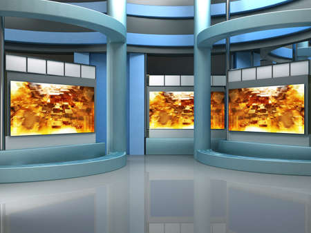 background studio for tv chroma Stock Photo - 10994181