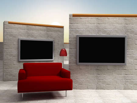 background studio for tv chroma Stock Photo - 10994184