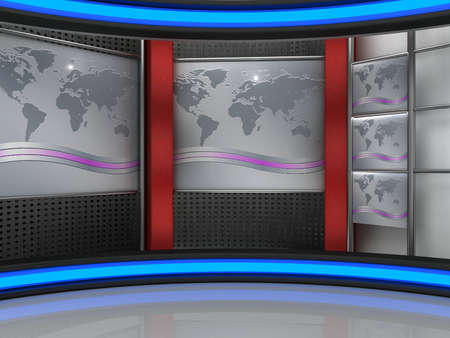 background studio for tv chroma Stock Photo - 10994182