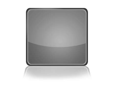 Square Web Button with reflection Stock Photo - 11097580