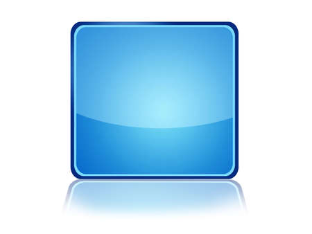 Square Web Button with reflection Stock Photo - 11097589
