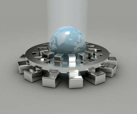 Earth shine 3d earth shine and map earth with shine silver