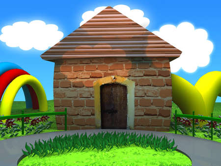 Toon studio background