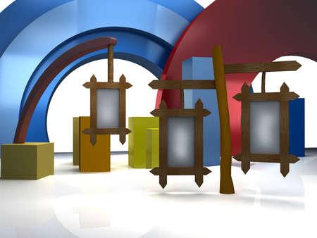 Toon studio background