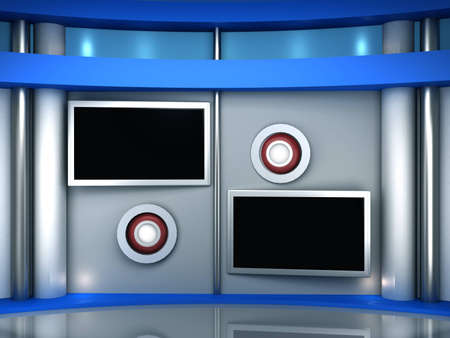 Studio background for tv photo