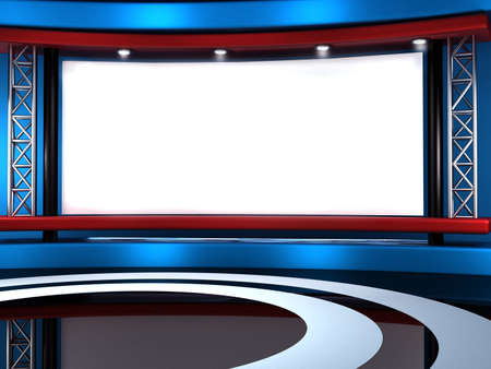 Studio tv background Stock Photo - 11406092