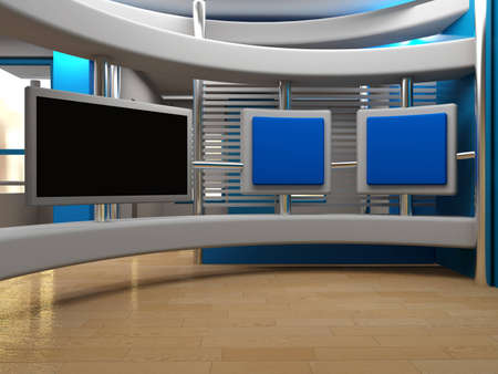 breaking: background for Studio  tv chroma