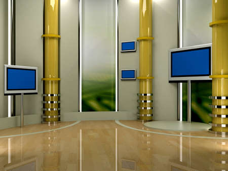 studio tv background chroma Stock Photo - 11802360