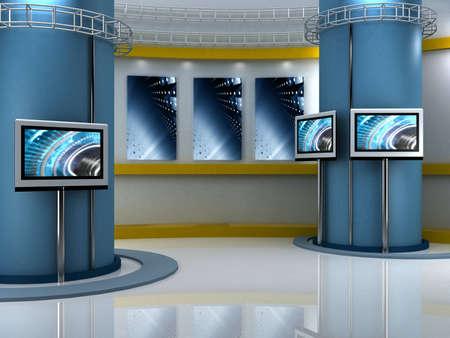 studio de télévision de fond chroma