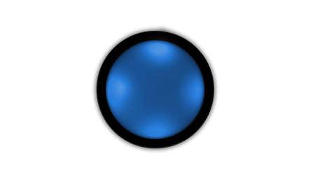 blue circle button Stock Photo