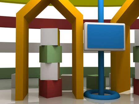 3d studio tv virtual set photo