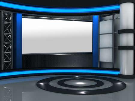 news reporter: 3d studio tv virtual set