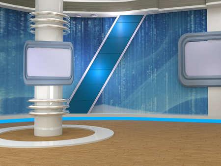 3d studio tv virtual set