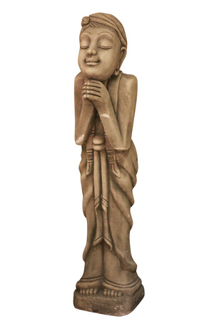 Thai girl sculpture for Sawasdee welcome of thailand photo