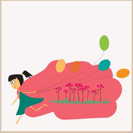 certitude: Happy girl Illustration