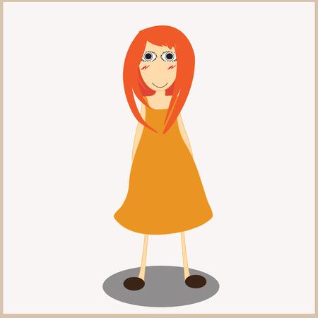 Happy girl Illustration